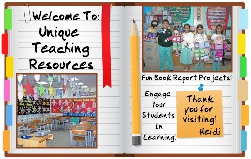 Unique Teaching Resources - Fun Book Report Projects, Reading Activities, and Lesson Plans for School Teachers