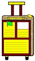 Main Character Vacation Suitcase Book Report Project Templates