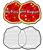 Pizza Venn Diagram Book Report Templates