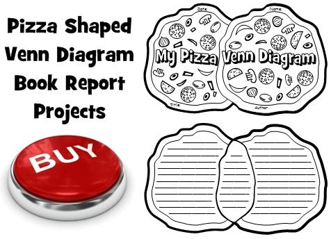 Creative Book Report Project Ideas:  Pizza Venn Diagram Templates