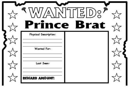 The Whipping Boy Wanted Poster Templates