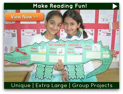 Click to view unique, fun, and challenging projects for novels and read aloud books.
