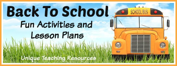 Fun Back To School Teaching Resources, Activities, Projects, and Lesson Plans