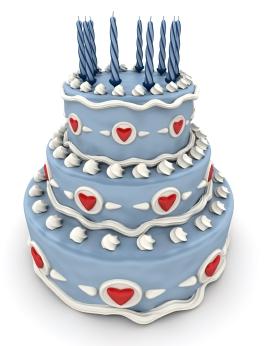 blue birthday cake graphic