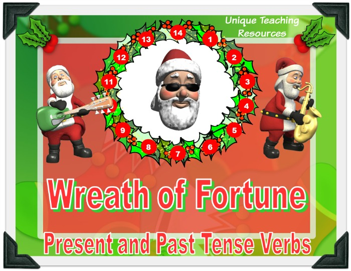 This is a fun Christmas powerpoint presentation that reviews verbs in an engaging game-like format.