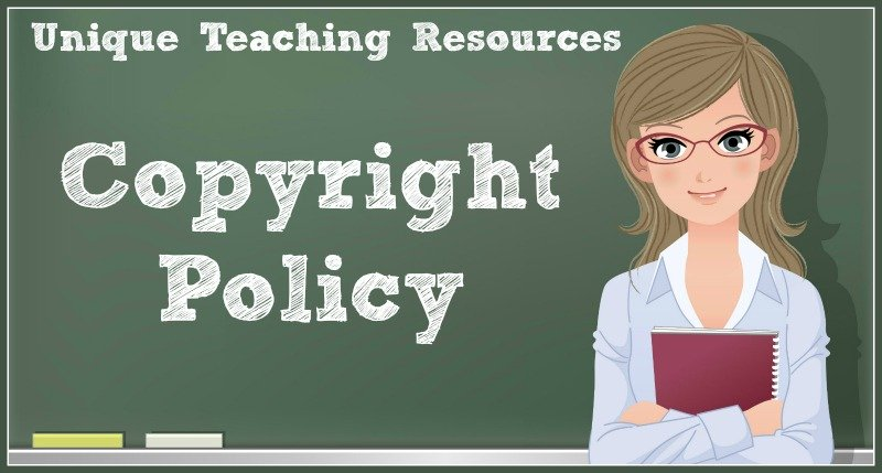 Copyright Policy For Unique Teaching Resources