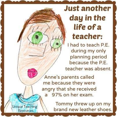 Funny day in a life of a school teacher.