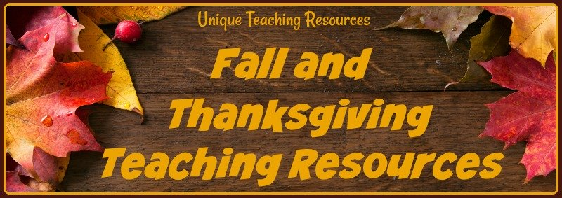 Fun fall and Thanksgiving teaching resources, projects, and activities