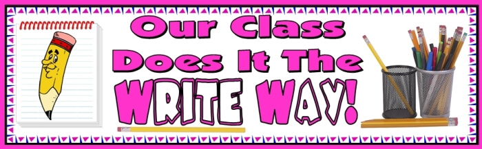 Free teaching resource to download - Write Way Creative Writing bulletin board display banner