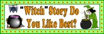 Free Halloween Reading Witch Bulletin Board Display Banner