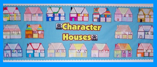 House Book Report Projects Elementary Classroom Bulletin Board Display Example