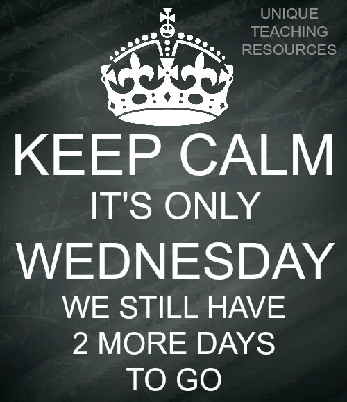 Quote:  Keep Calm.  It's only Wednesday.