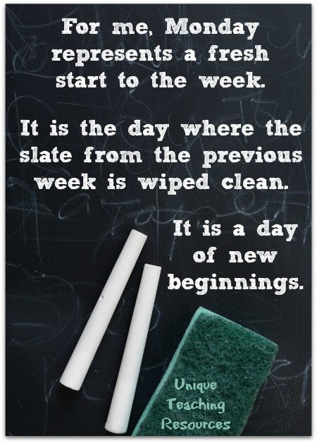 Monday quote about fresh start to the week.