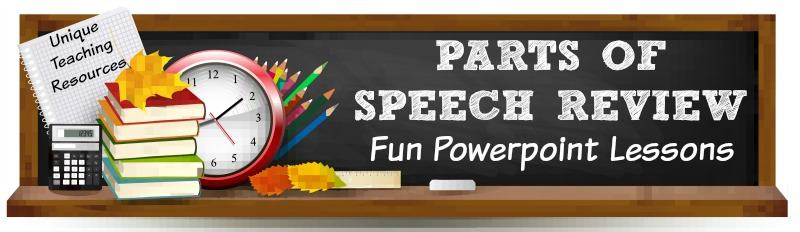 Fun powerpoint presentations for teachers to use to review parts of speech with their students.