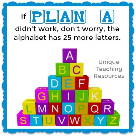 If Plan A didn't work, don't worry, the alphabet has 25 more letters.