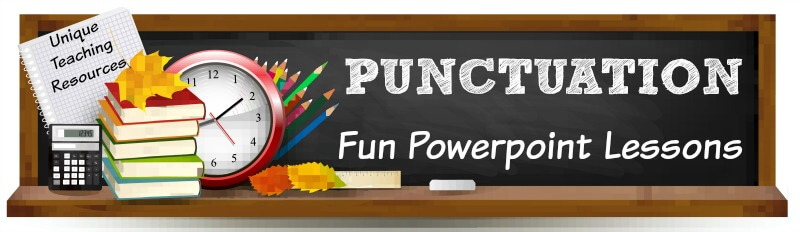 Fun powerpoint presentations for teachers to use to review punctuation marks with their students.