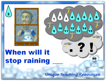 Rainy Day Punctuation Marks Powerpoint Lesson