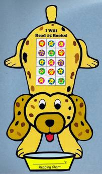 Reading Sticker and Incentive Chart Puppy Dog Templates