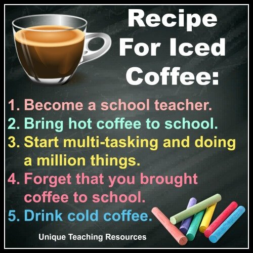 Recipe for iced coffee for school teachers