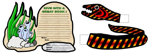 Dive Into Reading Sea Snake Book Report Projects and Templates