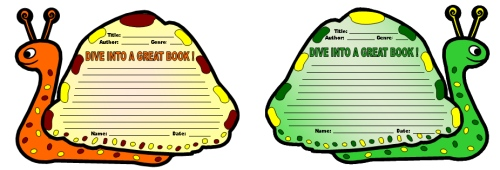 Dive Into Reading Book Report Projects Sea Snail Templates
