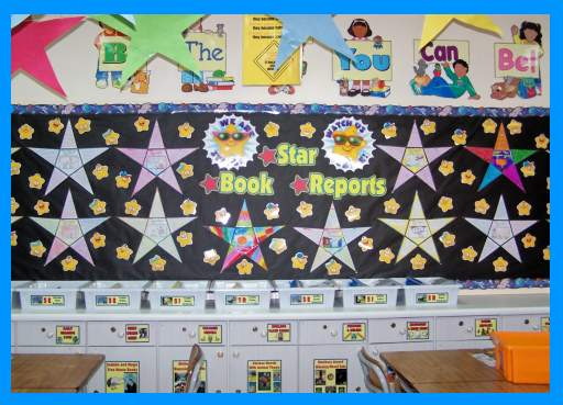 Star Book Report Projects Elementary Student Classroom Bulletin Board Display