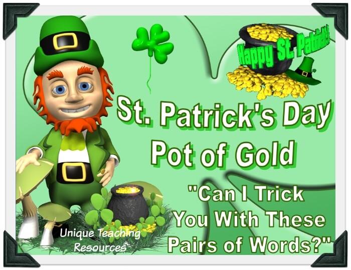 Fun St. Patrick's Day Grammar Powerpoint Lesson