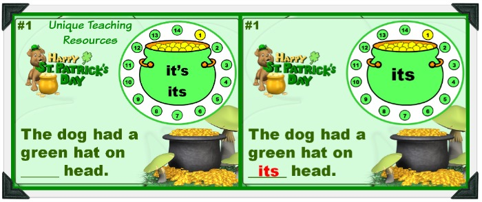 Fun St. Patrick's Day Grammar Powerpoint Lesson For Students