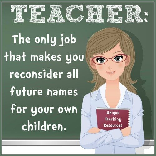 Funny teacher saying and graphic