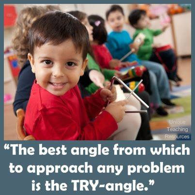 The best angle from which to approach any problem is the try-angle.
