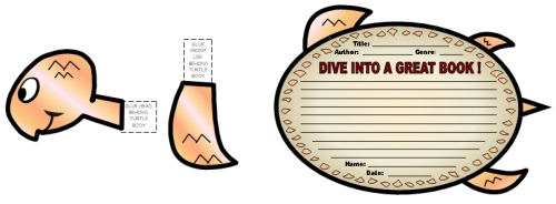 Dive Into Reading Books Book Report Projects Turtle Templates