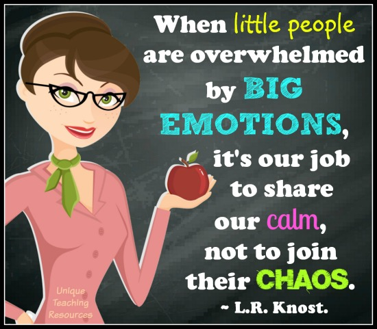 When little people are overwhelmed by big emotions, it's our job to share our calm, not to join their chaos.